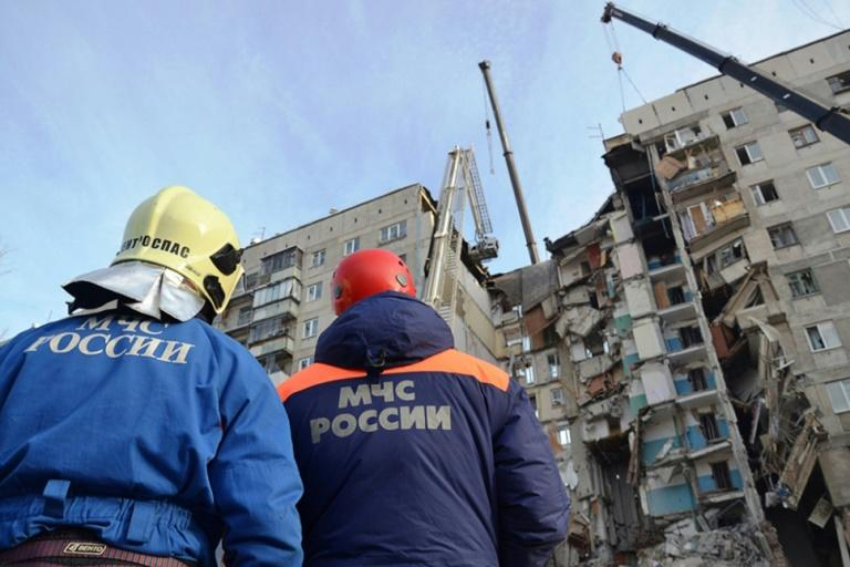 Rescuers have been braving temperatures as low as minus 27 degrees Celsius (minus 16 degrees Fahrenheit) to search for blast survivors at the site in the Ural mountains city of Magnitogorsk