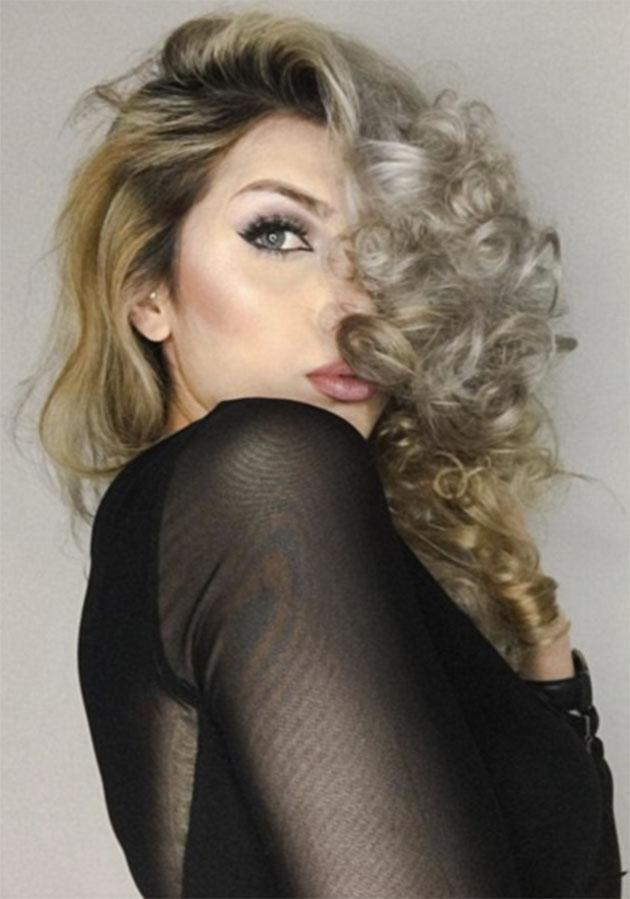 This was the result of using foil in place of a curling iron. Photo: helinhair