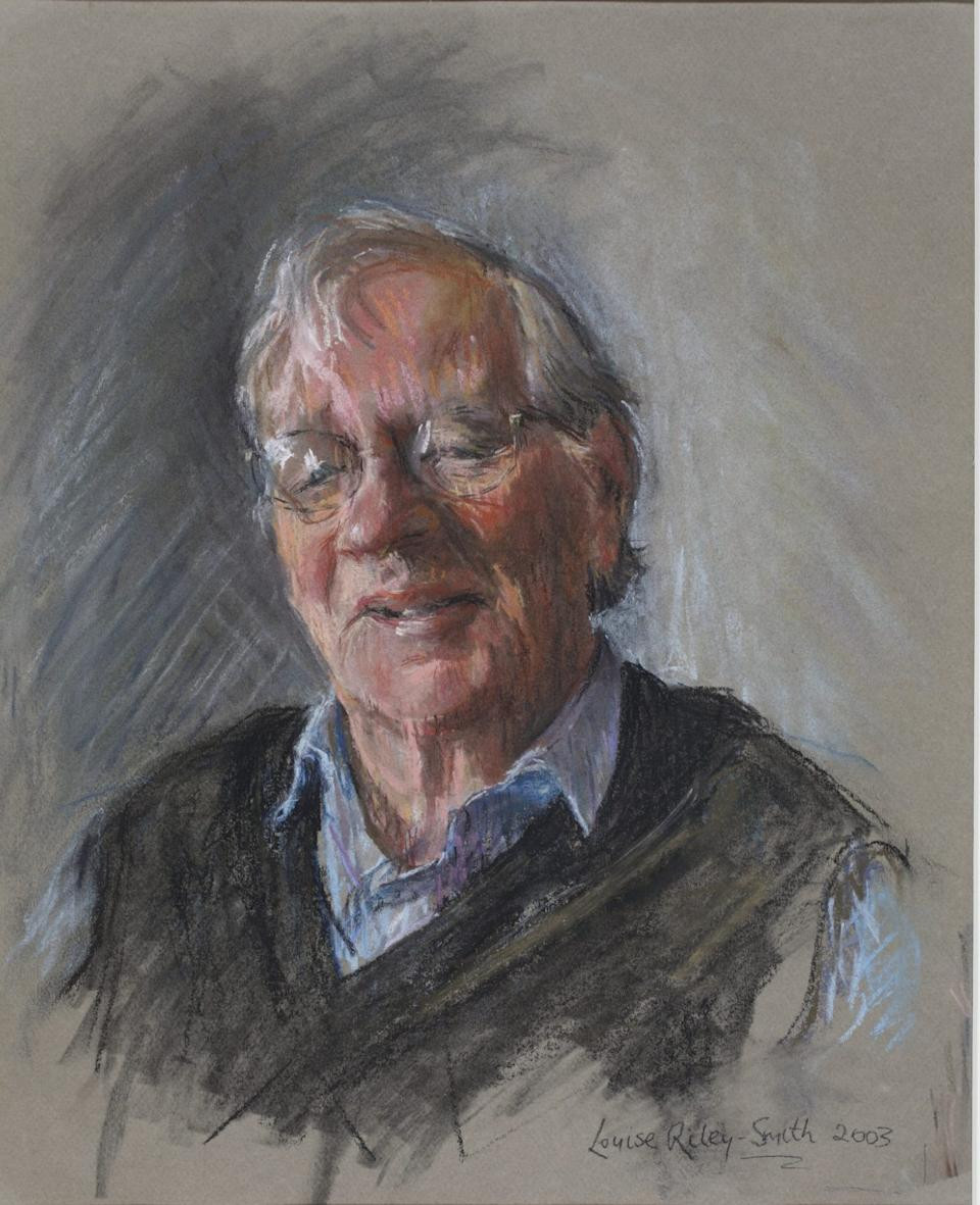 A portrait of Horace Barlow by Louise Riley-Smith - Louise Riley-Smith