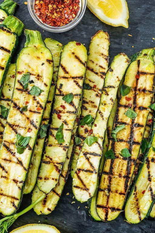 """<p><a href=""""https://www.delish.com/uk/cooking/recipes/a29840065/courgette-salad/"""" rel=""""nofollow noopener"""" target=""""_blank"""" data-ylk=""""slk:Courgette"""" class=""""link rapid-noclick-resp"""">Courgette</a> is one of our favourite vegetables to grill in the summer. Why? It's healthy, it's easy, and it cooks SO FAST.</p><p>Get the <a href=""""https://www.delish.com/uk/cooking/recipes/a31109622/grilled-zucchini-recipe/"""" rel=""""nofollow noopener"""" target=""""_blank"""" data-ylk=""""slk:Grilled Courgette"""" class=""""link rapid-noclick-resp"""">Grilled Courgette</a> recipe.</p>"""