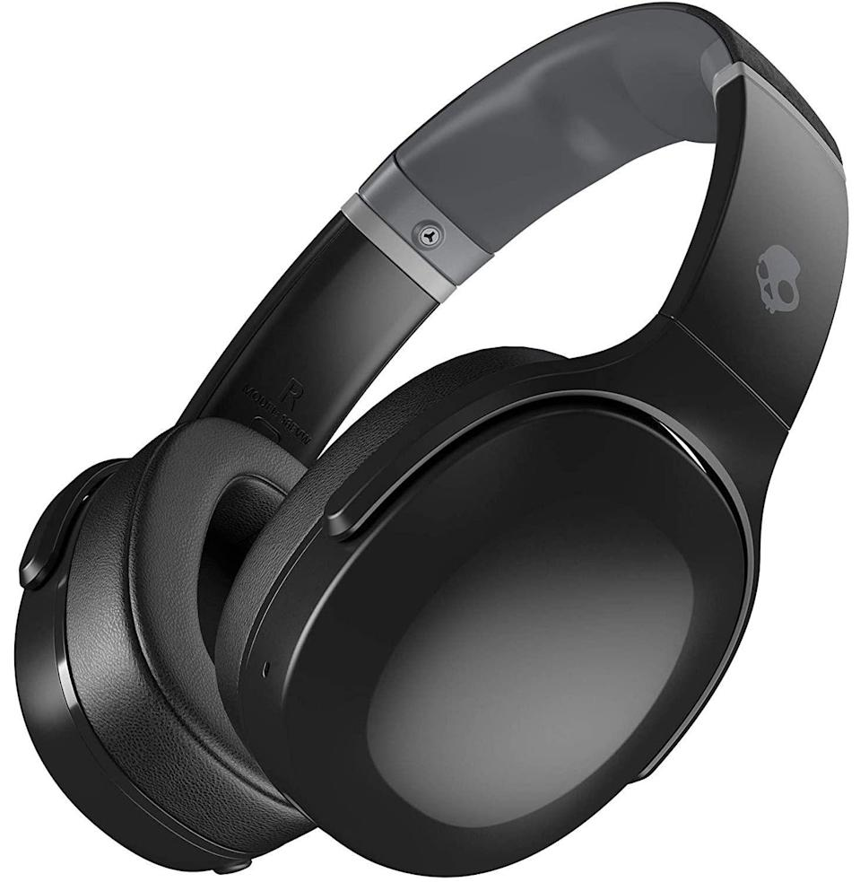 """<p><strong>Skullcandy</strong></p><p>amazon.com</p><p><strong>$149.99</strong></p><p><a href=""""https://www.amazon.com/dp/B08FCGH2RL?tag=syn-yahoo-20&ascsubtag=%5Bartid%7C10054.g.36716381%5Bsrc%7Cyahoo-us"""" rel=""""nofollow noopener"""" target=""""_blank"""" data-ylk=""""slk:Buy"""" class=""""link rapid-noclick-resp"""">Buy</a></p><p><strong>Save an additional $20 with Prime</strong></p><p>For a not-grossly-expensive pair of over-ear headphones with pretty damn decent sound, Skullcandy is a solid bet.</p>"""