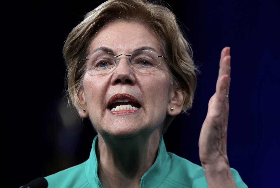 Sen. Elizabeth Warren (D-MA) speaks during the Democratic Presidential Committee (DNC) summer meeting on August 23, 2019 in San Francisco, California. (Photo: Justin Sullivan/Getty Images)