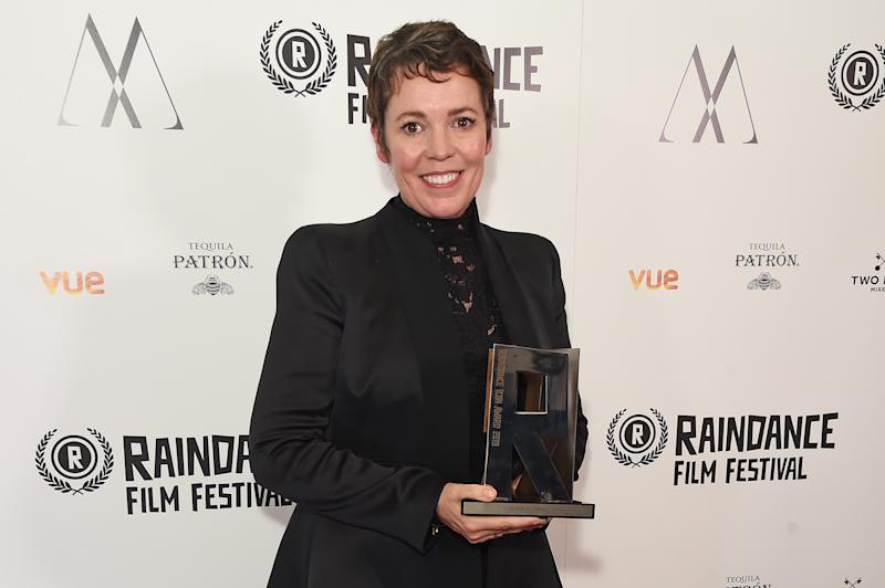 LONDON, ENGLAND - AUGUST 20: Winner of the Raindance 2019 Icon Award Olivia Colman attends the Raindance Film Festival's Special Soiree at The May Fair Hotel on August 20, 2019 in London, England. (Photo by David M. Benett/Dave Benett/Getty Images)