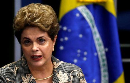Brazil's president proclaims innocence at impeachment trial