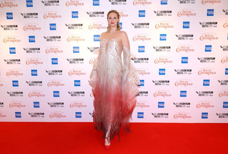 Gwendoline Christie in einer Robe von Iris van Herpen. (Bild: Getty Images)