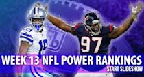 <p>Who's up, who's down? Frank Schwab surveys the landscape following the Week 12 games. </p>