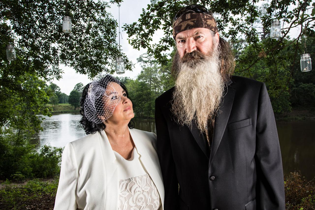 """Miss Kay and Phil Robertson in Season 4 of A&E's """"Duck Dynasty."""""""