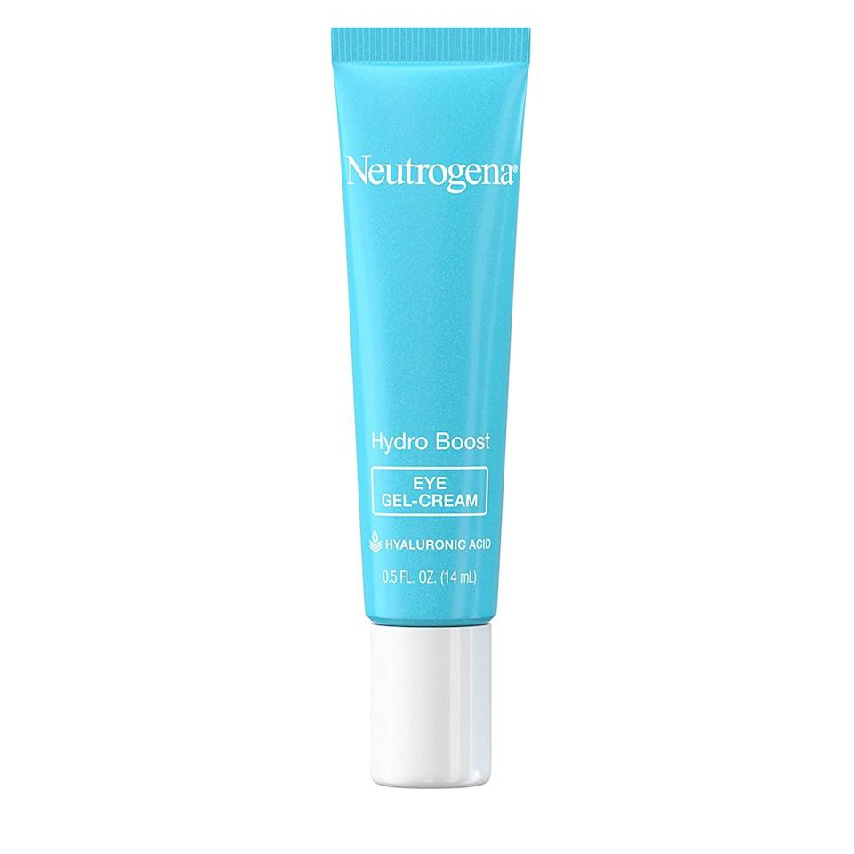 Drugstore fave Neutrogena Hydro Boost Eye Gel-Cream is packed with potent hyaluronic acid, which as you may know, helps lock hydration into the skin. It's one of those good-for-everyone picks: light enough for oily skin, hydrating for anyone, and the gel texture makes it cool to the touch. We like to swipe it on under makeup in the morning.
