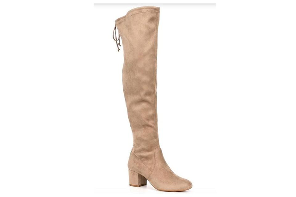 thigh-high boots, boots, suede, over the knee, gianni bini
