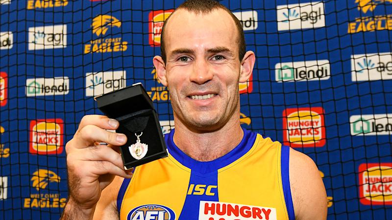 Shannon Hurn has announced he will step down as captain of the West Coast Eagles. (Photo by Daniel Carson/AFL Media/Getty Images)