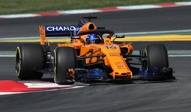 Formula One F1 - Spanish Grand Prix - Circuit de Barcelona-Catalunya, Barcelona, Spain - May 11, 2018 McLaren's Fernando Alonso during practice REUTERS/Albert Gea