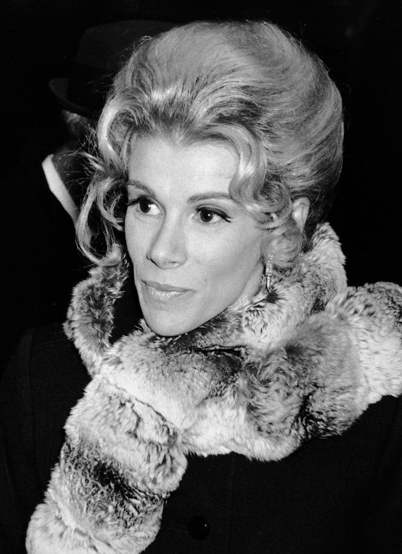 "Joan Rivers attends the premiere party for ""Hello, Dolly!"" on December 16, 1969 at the Pierre Hotel in New York City. (Ron Galella, Ltd./WireImage)"