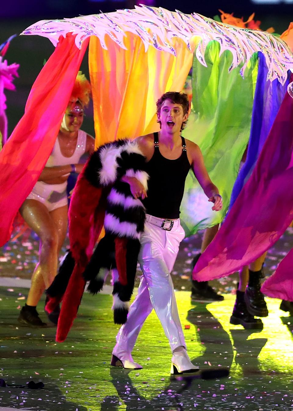Troye Sivan takes part during the 43rd Sydney Gay and Lesbian Mardi Gras Parade at the SCG on March 06, 2021 in Sydney, Australia. (Photo: Brendon Thorne/Getty Images)