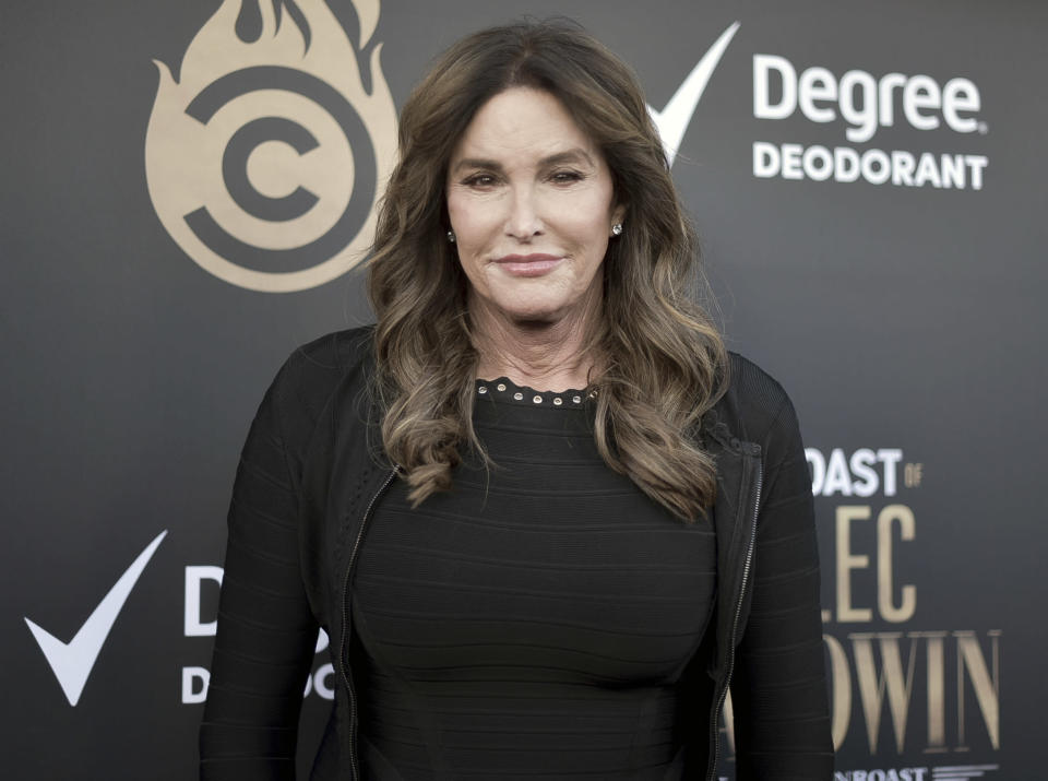 FILE - In this Sept. 7, 2019, file photo, Caitlyn Jenner attends the Comedy Central Roast of Alec Baldwin in Beverly Hills, Calif.. In her four days as a candidate for California governor, Jenner had a Twitter spat with a Democratic congressman, unveiled a website to sell campaign coffee mugs and swag and was photographed with a startup business owner. (Photo by Richard Shotwell/Invision/AP, File)