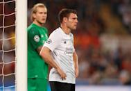 <p>Soccer Football – Champions League Semi Final Second Leg – AS Roma v Liverpool – Stadio Olimpico, Rome, Italy – May 2, 2018 Liverpool's James Milner reacts Action Images via Reuters/John Sibley </p>