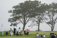 Jordan Spieth plays his shot from the second tee during the second round of the U.S. Open Golf Championship, Friday, June 18, 2021, at Torrey Pines Golf Course in San Diego. (AP Photo/Marcio Jose Sanchez)