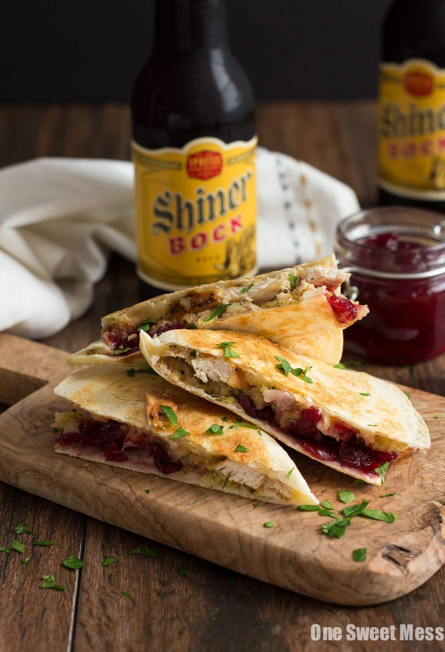 """<p>Skip the sandwich and opt to stuff all your leftovers into a cheesy quesadilla instead. </p><p><em><a href=""""http://www.onesweetmess.com/2015/11/24/turkey-stuffing-cranberry-quesadilla/"""" rel=""""nofollow noopener"""" target=""""_blank"""" data-ylk=""""slk:Get the recipe from One Sweet Mess »"""" class=""""link rapid-noclick-resp"""">Get the recipe from One Sweet Mess »</a></em> </p><p><strong>RELATED: </strong><a href=""""https://www.goodhousekeeping.com/food-recipes/healthy/g4895/healthy-quesadilla-recipes/"""" rel=""""nofollow noopener"""" target=""""_blank"""" data-ylk=""""slk:28 Healthy Quesadilla Recipes to Satisfy All Your Cravings, Dessert Included"""" class=""""link rapid-noclick-resp"""">28 Healthy Quesadilla Recipes to Satisfy All Your Cravings, Dessert Included</a></p>"""