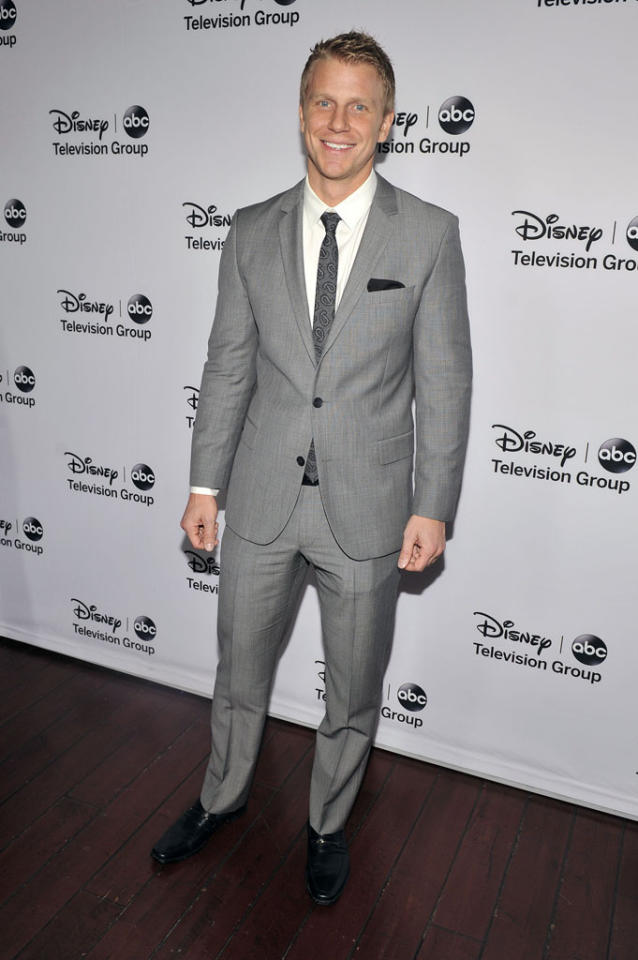 "Sean Lowe (""The Bachelor"") attends the Disney ABC Television Group 2013 TCA Winter Press Tour at The Langham Huntington Hotel and Spa on January 10, 2013 in Pasadena, California."