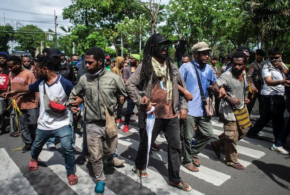 Papua has long pushed for independence from Indonesia and more than 500 activists were arrested in a nationwide police crackdown that coincided with rallies on December 1 (AFP Photo/JUNI KRISWANTO)