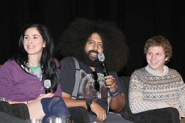Sarah Silverman, Reggie Watts and Michael Cera speak during the Jash launch panel at the Palmer Events Center during South By Southwest Interactive Festival on March 10, 2013 in Austin, Texas.