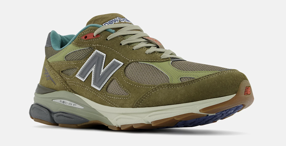 """A front view of the Bodega x New Balance 990v3 """"Anniversary"""" collab. - Credit: Courtesy of New Balance"""