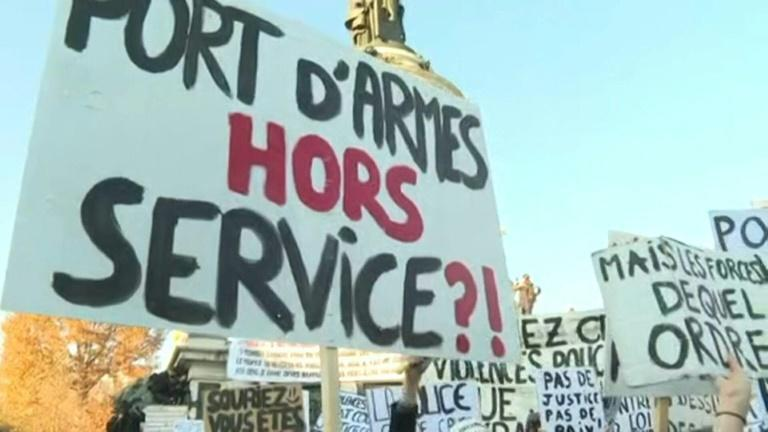 "Parisians rally against ""Comprehensive Security"" law"