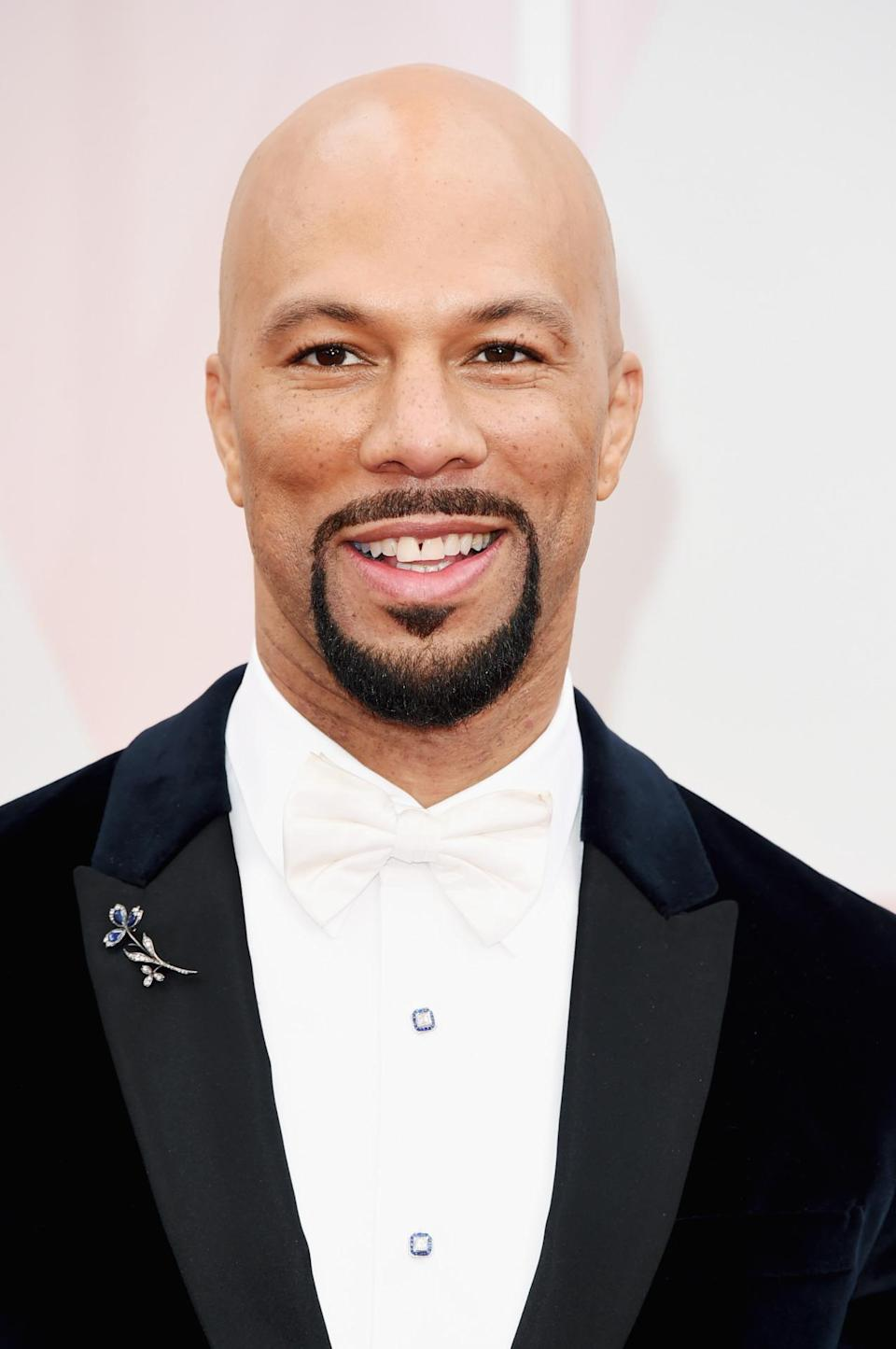 <p>Common's facial hair makes up for the simplicity of his bald head. <i>(Photo: Getty Images)</i></p>