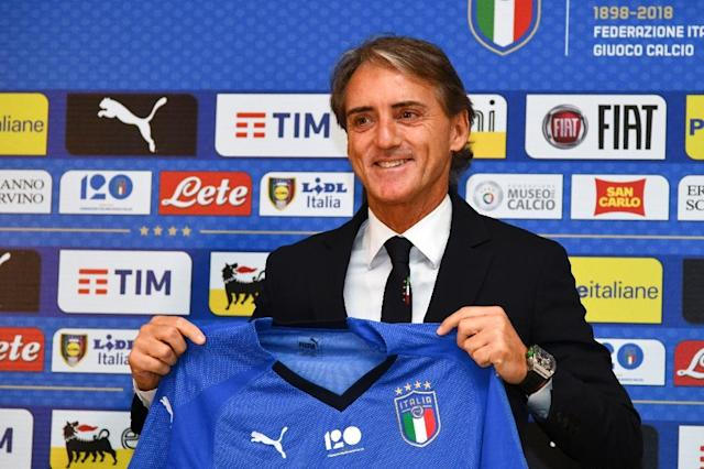 Roberto Mancini has enjoyed club success at Manchester City, Inter Milan and Galatasaray (AFP Photo/Carlo BRESSAN)