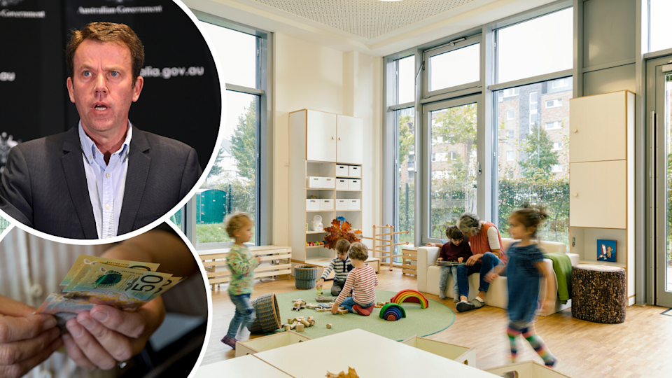 Federal Education Minister Dan Tehan has announced free childcare will come to an end on 12 July 2020. (Source: Getty, AAP)