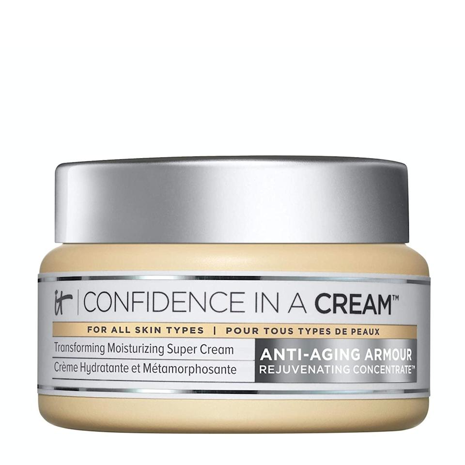 <p>Beat winter dryness with this <span>IT Cosmetics Confidence in a Cream Facial Moisturizer </span> ($34, originally $49) It contains hyaluronic acid and collagen to keep skin feeling nourished and plump. </p>