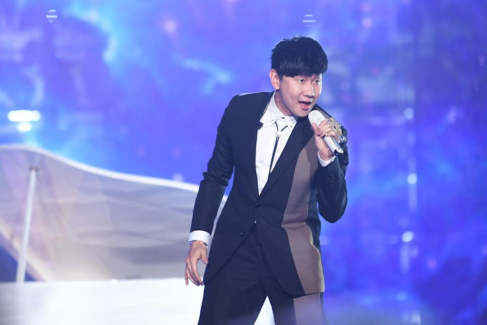 DATONG, CHINA - JULY 21: Singaporean singer JJ Lin (aka Wayne Lin Jun Jie) performs during the opening ceremony of the 5th Jackie Chan International Action Film Week on July 21, 2019 in Datong, Shanxi Province of China. (Photo by Visual China Group via Getty Images/Visual China Group via Getty Images)
