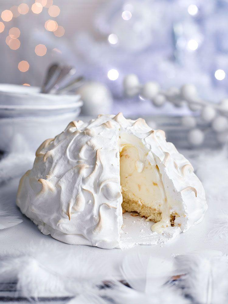 """<p>Not as tricky as you might think: just make sure the frozen yogurt is completely covered in meringue before baking to prevent melting.</p><p><strong>Recipe: <a href=""""https://www.goodhousekeeping.com/uk/christmas/christmas-recipes/a558378/tropical-baked-alaska/"""" rel=""""nofollow noopener"""" target=""""_blank"""" data-ylk=""""slk:Tropical baked Alaska"""" class=""""link rapid-noclick-resp"""">Tropical baked Alaska</a></strong></p>"""