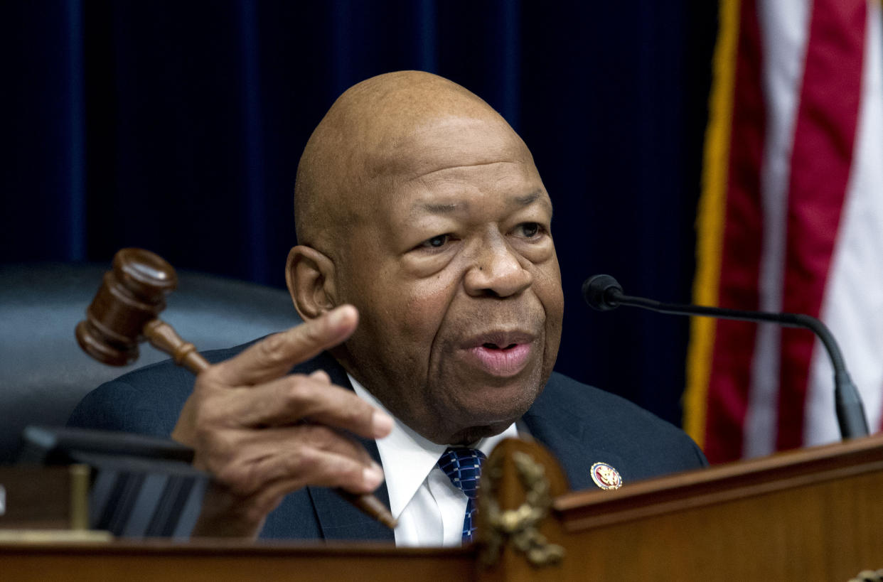 House Oversight and Reform Committee Chair Elijah Cummings, D-Md., speaks during a hearing on Capitol Hill in Washington, D.C., in March. (AP Photo/Jose Luis Magana)