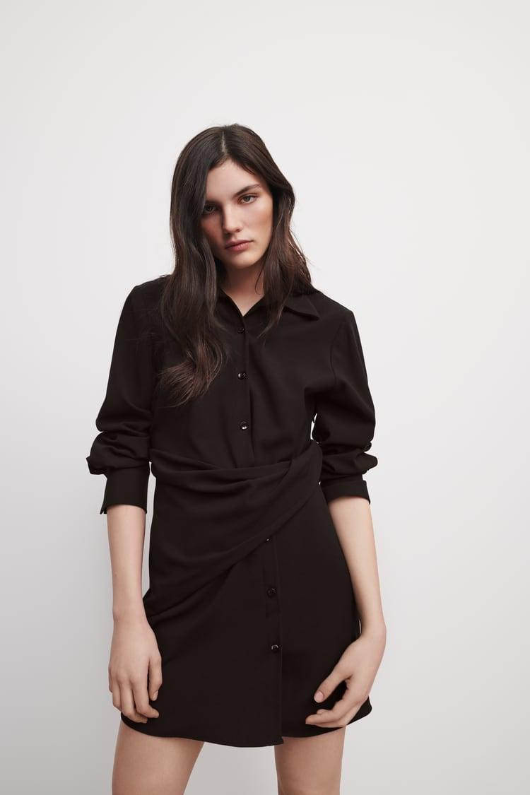 <p>This <span>Draped Shirtdress</span> ($70) is the perfect LBD.</p>