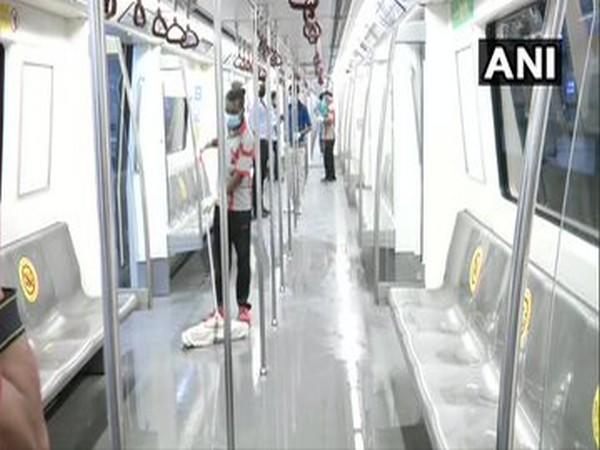 Preparations underway at Rajiv Chowk metro station as Delhi Metro rail gears up to resume services from September 7.