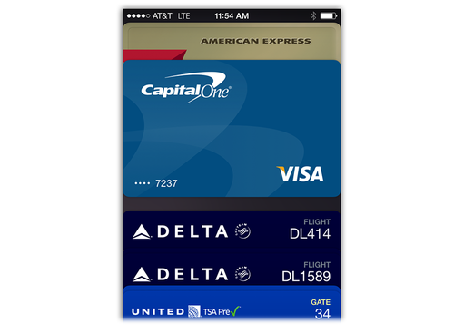 Credit card options on Apple Pay