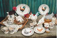 """<p>The classic Rise and Shine range is here to stay, thanks to its popularity. Some new additions include a <a href=""""https://go.redirectingat.com?id=127X1599956&url=https%3A%2F%2Fwww.emmabridgewater.co.uk%2Fproducts%2Frise-shine-make-this-day-wonderful-6-12-inch-plate&sref=https%3A%2F%2Fwww.countryliving.com%2Fuk%2Fhomes-interiors%2Finteriors%2Fg35249240%2Femma-bridgewater-spring%2F"""" rel=""""nofollow noopener"""" target=""""_blank"""" data-ylk=""""slk:gorgeous statement cockerel plate"""" class=""""link rapid-noclick-resp"""">gorgeous statement cockerel plate</a> (£12.95) and a must-have '<a href=""""https://go.redirectingat.com?id=127X1599956&url=https%3A%2F%2Fwww.emmabridgewater.co.uk%2Fproducts%2Frise-shine-eggs-toast-12-pint-mug&sref=https%3A%2F%2Fwww.countryliving.com%2Fuk%2Fhomes-interiors%2Finteriors%2Fg35249240%2Femma-bridgewater-spring%2F"""" rel=""""nofollow noopener"""" target=""""_blank"""" data-ylk=""""slk:eggs, toast, newspaper and coffee' mug"""" class=""""link rapid-noclick-resp"""">eggs, toast, newspaper and coffee' mug</a> (£19.95). </p><p><a class=""""link rapid-noclick-resp"""" href=""""https://go.redirectingat.com?id=127X1599956&url=https%3A%2F%2Fwww.emmabridgewater.co.uk%2Fcollections%2Fnew&sref=https%3A%2F%2Fwww.countryliving.com%2Fuk%2Fhomes-interiors%2Finteriors%2Fg35249240%2Femma-bridgewater-spring%2F"""" rel=""""nofollow noopener"""" target=""""_blank"""" data-ylk=""""slk:BUY NOW"""">BUY NOW</a></p><p><strong>Like this article? </strong><a href=""""https://hearst.emsecure.net/optiext/cr.aspx?ID=zsATrj4qAwL7PXfHOfbti0xjie5wOfecvOt8e1A3WvL5x0TsMrTgu8waUpN%2BcCNsV3wq_zCaFTleze"""" rel=""""nofollow noopener"""" target=""""_blank"""" data-ylk=""""slk:Sign up to our newsletter"""" class=""""link rapid-noclick-resp""""><strong>Sign up to our newsletter</strong></a><strong> to get more articles like this delivered straight to your inbox.</strong></p><p><a class=""""link rapid-noclick-resp"""" href=""""https://hearst.emsecure.net/optiext/cr.aspx?ID=zsATrj4qAwL7PXfHOfbti0xjie5wOfecvOt8e1A3WvL5x0TsMrTgu8waUpN%2BcCNsV3wq_zCaFTleze"""" rel=""""nofollow noopener"""" target=""""_blank"""" """