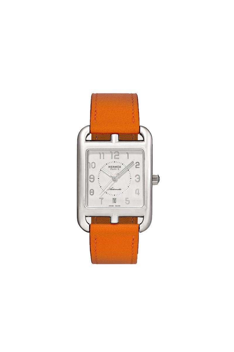 """<p>Hermes - £2,900.00</p><p><a class=""""link rapid-noclick-resp"""" href=""""https://go.redirectingat.com?id=127X1599956&url=https%3A%2F%2Fwww.net-a-porter.com%2Fen-gb%2Fshop%2Fproduct%2Fhermes-timepieces%2Fcape-cod-automatic-29mm-large-stainless-steel-and-leather-watch%2F1227846&sref=https%3A%2F%2Fwww.elle.com%2Fuk%2Ffashion%2Fwhat-to-wear%2Farticles%2Fg31918%2Fbest-watches-to-buy-this-season%2F"""" rel=""""nofollow noopener"""" target=""""_blank"""" data-ylk=""""slk:SHOP NOW"""">SHOP NOW</a></p>"""