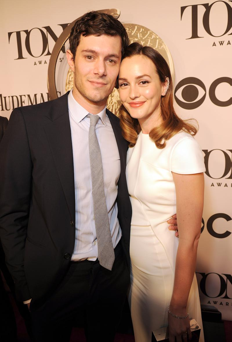Leighton Meester and Adam Brody attend the 68th Annual Tony Awards at Radio City Music Hall on June 8, 2014 in New York City.