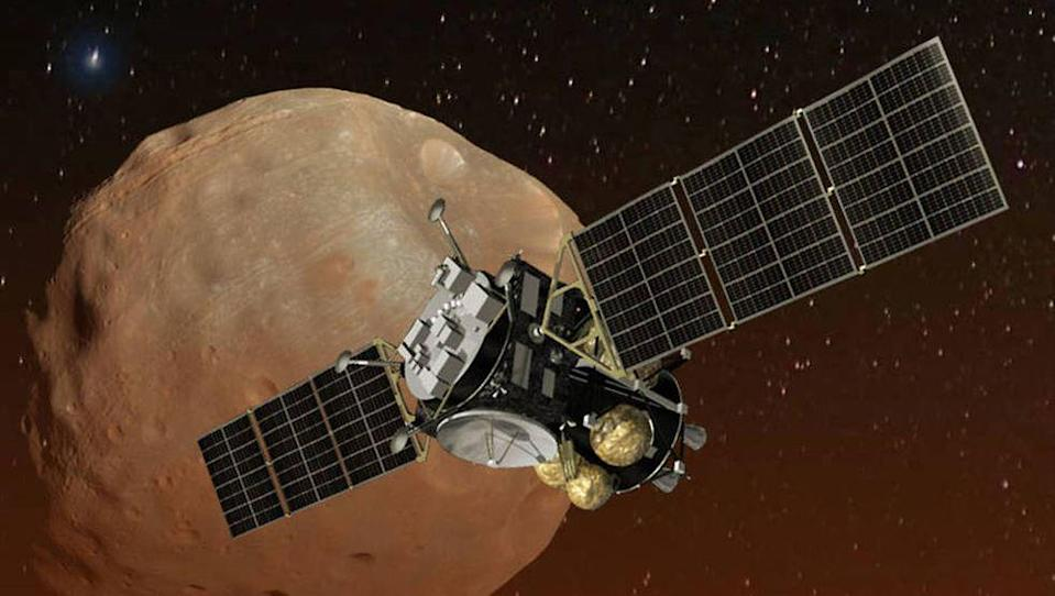<p>In March 2025, JAXA's Martian Moons Exploration probe will enter Mars orbit before moving on the Phobos to collect particles with a simple pneumatic system. The last attempt to nab a sample of Phobos was Russia's Fobos-Grunt mission in 2011 which failed in low-Earth orbit.</p><p>If successful, the spacecraft will return to Earth five years later, hopefully shedding light on whether Mars' moons are captured asteroids or the result of devastating planet impacts.</p>