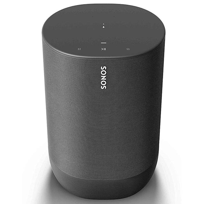 """<p><strong>Sonos</strong></p><p>amazon.com</p><p><strong>$478.00</strong></p><p><a href=""""https://www.amazon.com/dp/B07W95RBZM?tag=syn-yahoo-20&ascsubtag=%5Bartid%7C2139.g.34788908%5Bsrc%7Cyahoo-us"""" rel=""""nofollow noopener"""" target=""""_blank"""" data-ylk=""""slk:BUY IT HERE"""" class=""""link rapid-noclick-resp"""">BUY IT HERE</a></p><p>Unless stated otherwise, most of these outdoor speakers come with wires and require some sort of DIY home installation. But the Sonos Move is quite the opposite. Coming in as the smartest system, it brings both Google Assistant and Amazon Alexa in a battery-powered, Bluetooth-enabled arrangement. Plus, it's extremely rugged with an IP56 rating, meaning it's weather and shock resistant.</p><p>Sonos products always deliver brilliant, immersive sound to last the test of time. No wonder it's the speaker system of choice for many high-end hospitality businesses. What's even better about this is the capability to connect to a larger system for bigger land. You can even connect it to the Sonos amp, which makes this a great choice for outdoor concerts and movies. But if you go Sonos, you better be committed, because the products work exclusively through the Sonos app and operating system. This product alone can bring you 11 hours of wireless listening.</p>"""