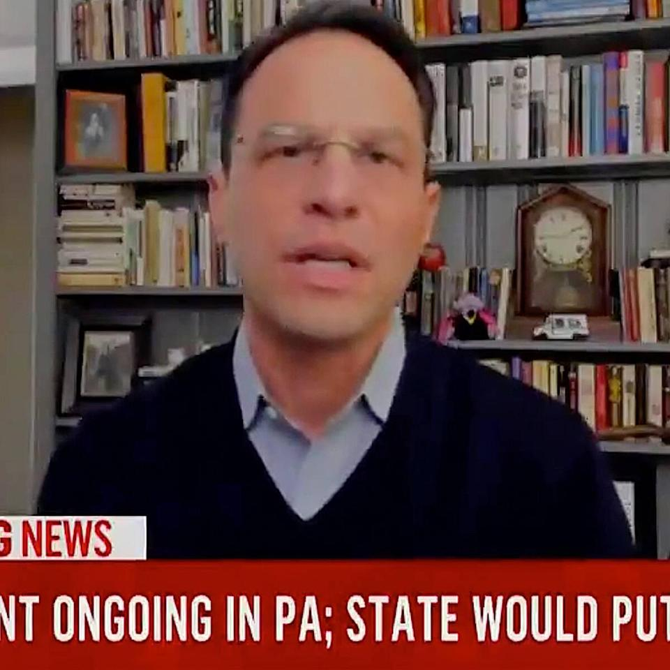 Pennsylvania Attorney General Josh Shapiro Reacts After His Son Crashes Election Interview