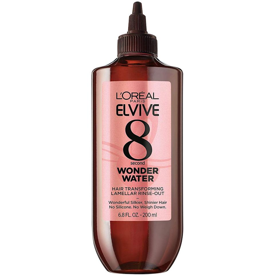 "If your hair could use a quick boost, L'Oréal Paris Elvive is here to give you one in under a minute. The brand's 8 Second Wonder Water Lamellar Rinse-Out works on wet hair to smooth, add shine, and give your hair a healthier look in a snap.<br> <br> <strong>$9</strong> (<a href=""https://shop-links.co/1690917309778861303"" rel=""nofollow"">Shop Now</a>)"
