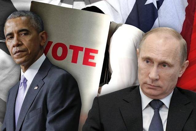 Former President Barack Obama wanted Russian President Vladimir Putin to pay for interfering with the U.S. democratic process last year. (Yahoo News photo Illustration; photos: AP)