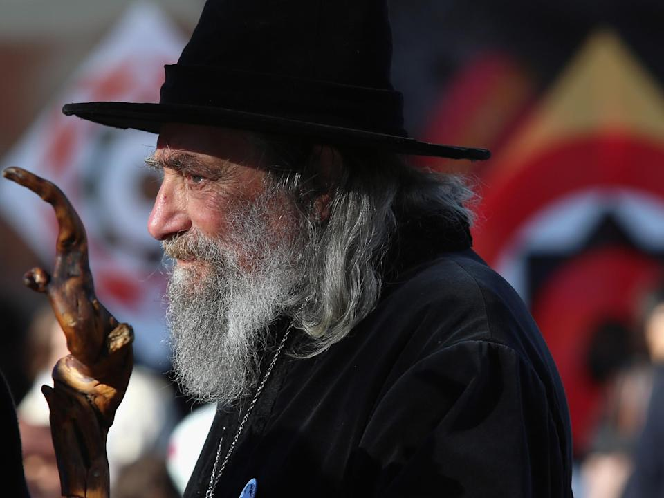 Ian Channell, known as The Wizard, has been a fixture in Christchurch's Cathedral Square for decades's: Getty Images