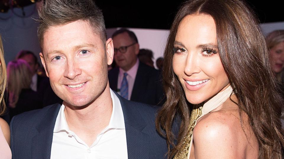 Michael and Kyly Clarke, pictured here at the Myer Spring 16 Launch in 2016.