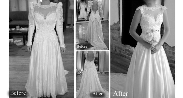 style bride totally transformed mothers wedding gown