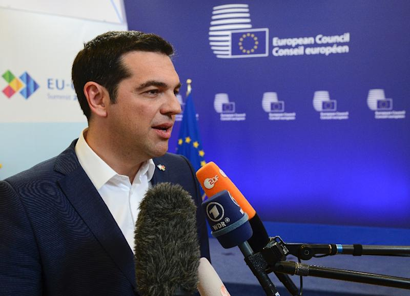 Greek Prime Minister Alexis Tsipras said differences remained after a second round of bailout talks with European leaders (AFP Photo/John Thys)