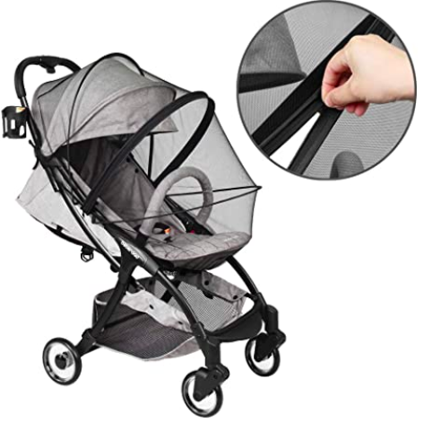 Mosquito net with quick connect design, Fits to crib, bassinet and 95% strollers, S$28.07. PHOTO: Amazon