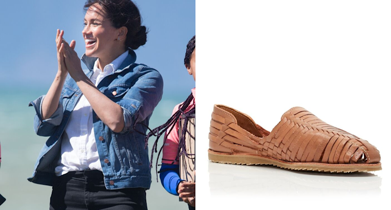 Meghan Markle stepped out for day 2 of the royals' tour of South Africa in a pair of $260 CAD Brother Vellies huaraches.